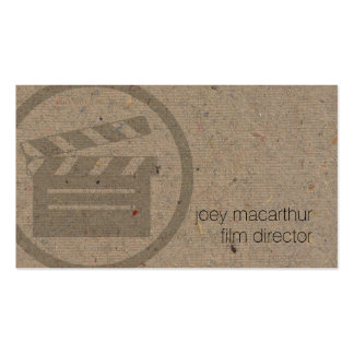 Film Director Clapperboard Icon Film Photography Pack Of Standard Business Cards
