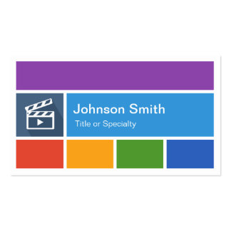 Film Director - Creative Modern Metro Style Business Cards