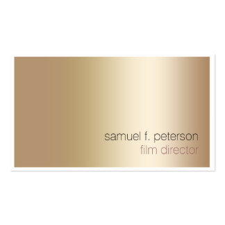 Film Director Visual Arts Media ElegantGold Simple Pack Of Standard Business Cards