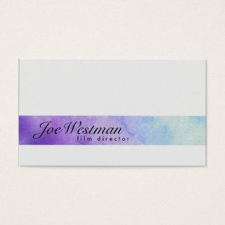Film Director Visual Arts Media Watercolor Stripe Business Card