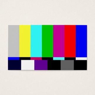 Film Editor Plain TV Screen Business Card