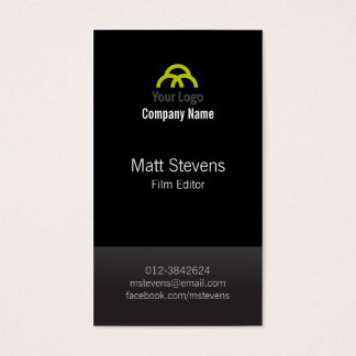 Film Editor Video Imaging Production Black TwoTone Business Card