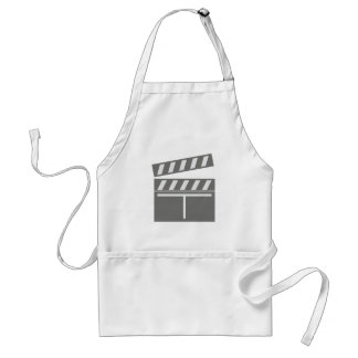 Film flap folds clapperboard aprons