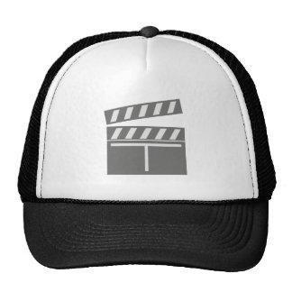 Film flap folds clapperboard mesh hat