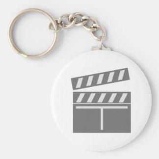 Film flap folds clapperboard key chain