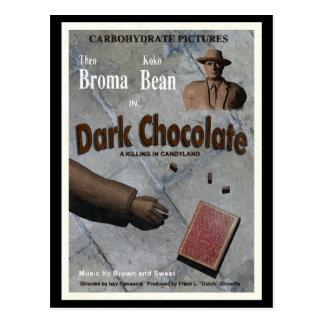 Film foncé de chocolat carte postale