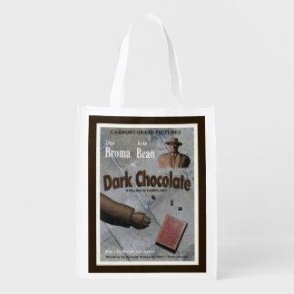 Film foncé de chocolat sac réutilisable d'épcierie