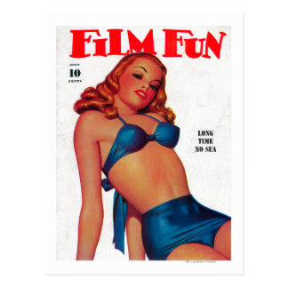 Film Fun Magazine Cover 11 Postcard
