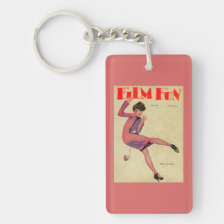 Film Fun Magazine Cover Double-Sided Rectangular Acrylic Keychain