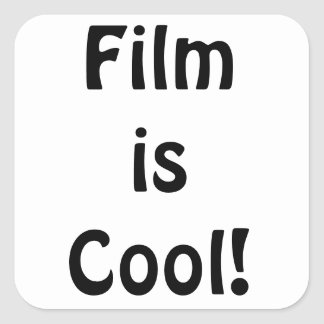 Film is Cool! Square Square Sticker