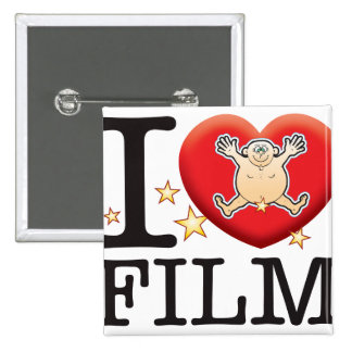 Film Love Man 2 Inch Square Button