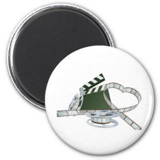 Film lover concept 2 inch round magnet