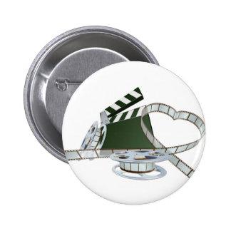Film lover concept button