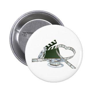 Film lover concept pinback button