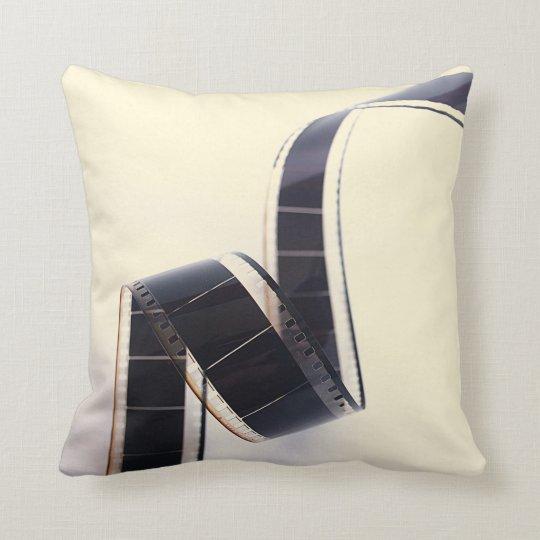 Film Negative Pastel Yellow Cushion