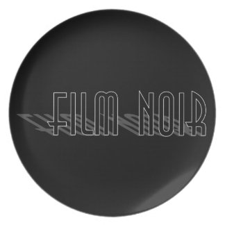 Film Noir (long shadow) Plate