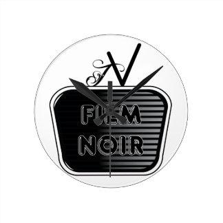 Film Noir Round Clock