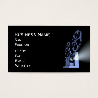 Film Projector Business Cards