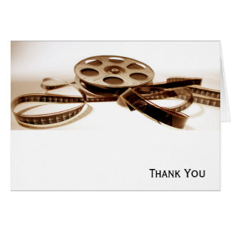 Film Reel in Sepia Tones Background Card