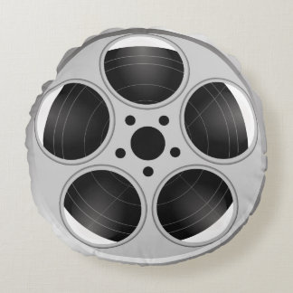 FILM REEL Round Throw Pillow