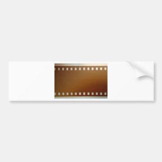 Film roll color bumper sticker