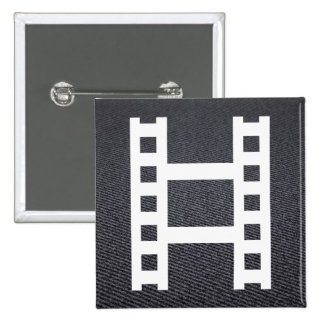 Film Showings Minimal 2 Inch Square Button