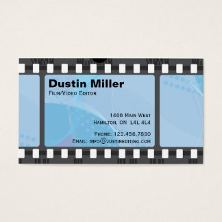 Film Strip - Blue Business Card