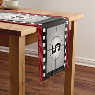 Film Strip Countdown Movie Theme Short Table Runner