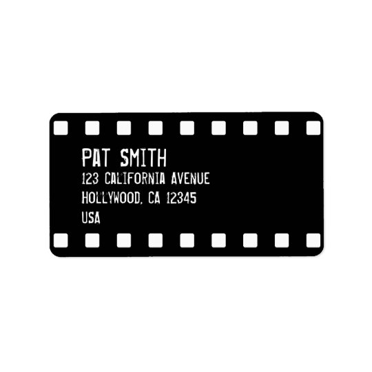 Film Strip Custom Address Labels