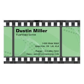 Film Strip - Green Pack Of Standard Business Cards