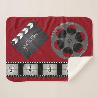 Film Strip Movie Reel Clapperboard Sherpa Blanket