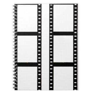 """film strip"" photo collage notebooks"