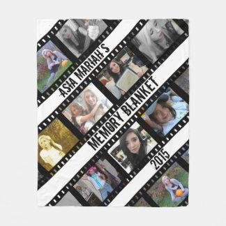 Film Strip Photo frames Fleece Blanket