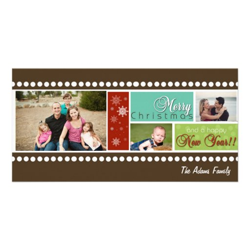 Film Strip Photo Holiday Card Custom Photo Card
