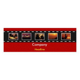 Film Strip Profile Card Mini Business Card