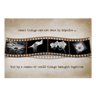 Film strip with quote poster