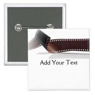 Film Strip with Reflection on White 2 Inch Square Button