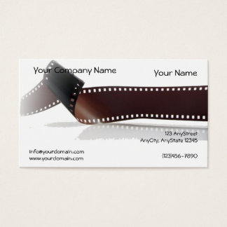 Film Strip with Reflection on White Background Business Card