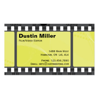 Film Strip - Yellow Pack Of Standard Business Cards