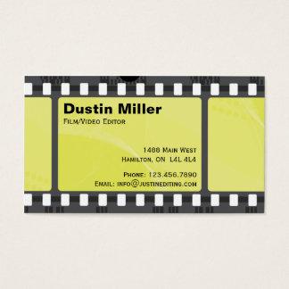 Film Strip - Yellow Business Card