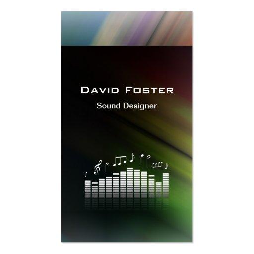 Film TV Audio Sound Designer Director Business Card