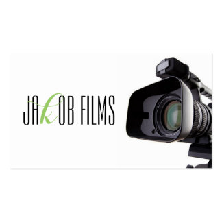 Film Video Camera Movie Director Filming Pack Of Standard Business Cards