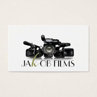 Film Video Camera Movie Director Filming Wedding Business Card
