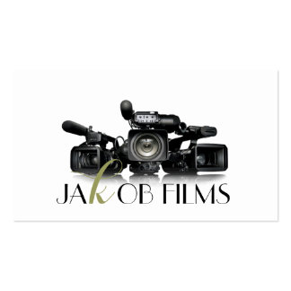 Film Video Camera Movie Director Filming Wedding Pack Of Standard Business Cards