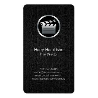 FilmDirector Clapperboard BlackGrunge BusinessCard Business Cards