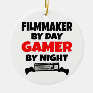 Filmmaker by Day Gamer by Night Ceramic Ornament