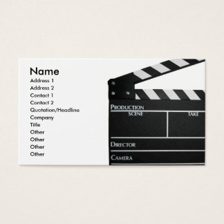 Filmmaker Film director producer business card