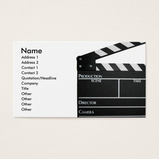 Filmmaker film director producer business card zazzle filmmaker film director producer business card colourmoves Image collections