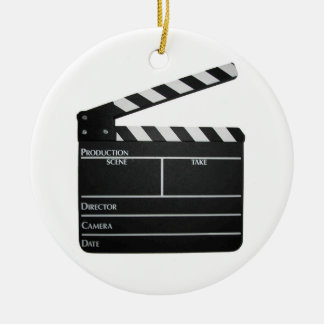 Filmmaker Film slate clapboard movie ORNAMENT