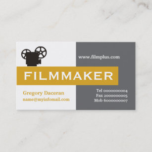 Filmmaker business cards profile cards zazzle ca filmmaker grey eye catching business card colourmoves